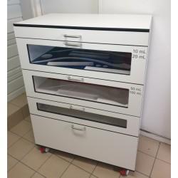 Façade de tiroir transparente